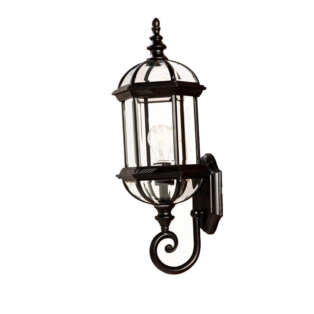 Dover Collection 1-Light Matte Black Outdoor Wall-Mount Light Fixture