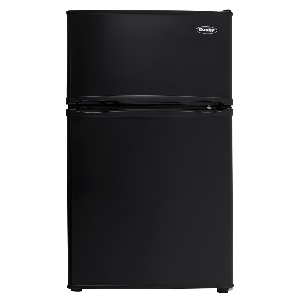 2 Door Mini Refrigerator In Black