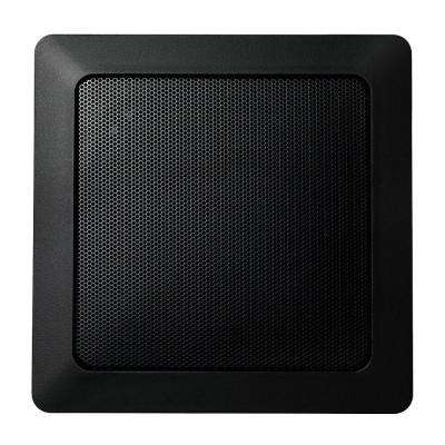 Music Therapy 60-Watt 2-Way Indoor/Outdoor Square Speaker System - Black (2-Pack)