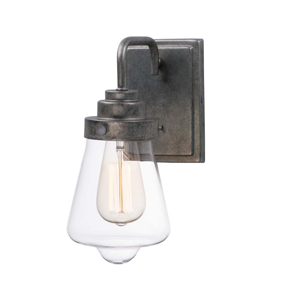 Cape cod 5 25 in wide weathered zinc sconce