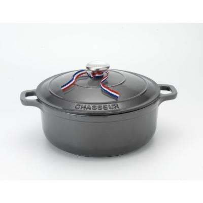 3.25 Qt. Caviar-Grey Enameled Cast Iron Round Dutch Oven