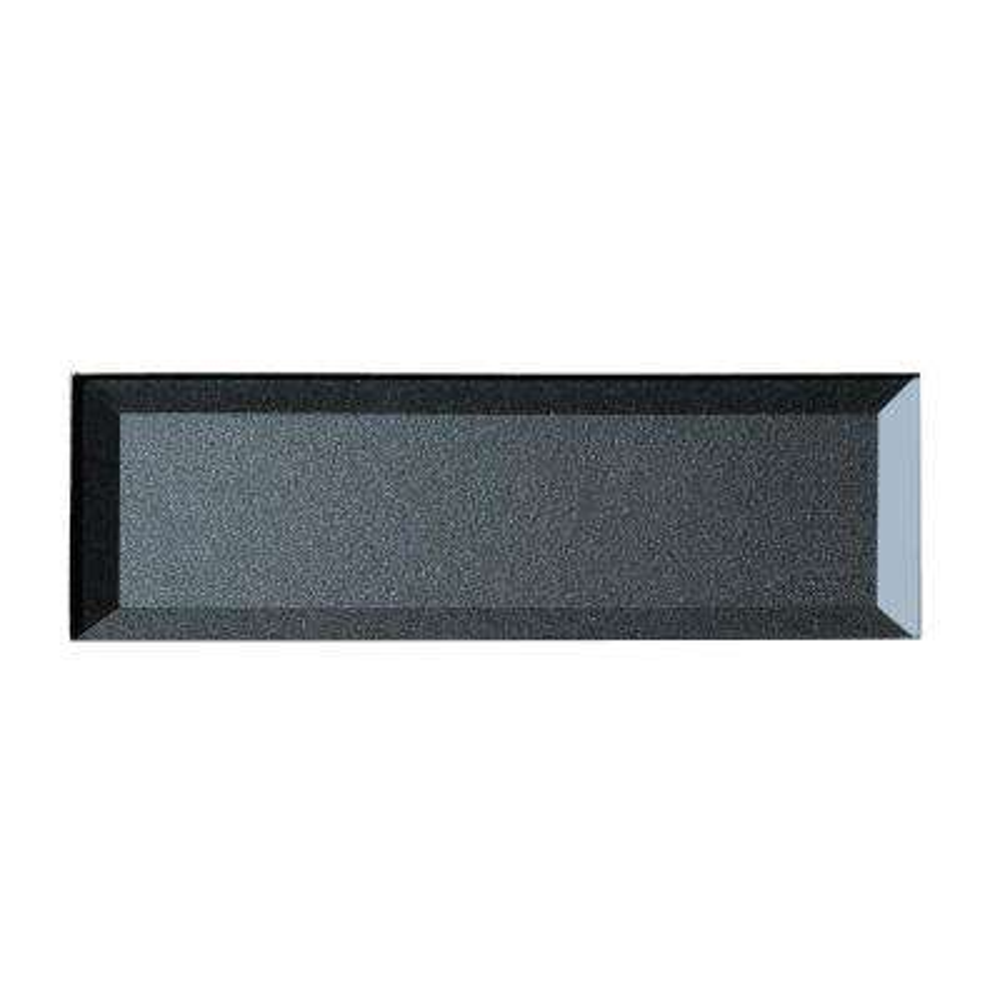 3 in. x 12 in. Secret Dimensions Blue Gray Glass Beveled 3D Peel and Stick Decorative Wall Tile Backsplash Sample