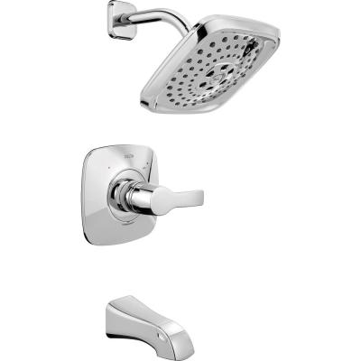 Tesla H2Okinetic Single-Handle Tub and Shower Faucet Trim Kit in Chrome (Valve Not Included)