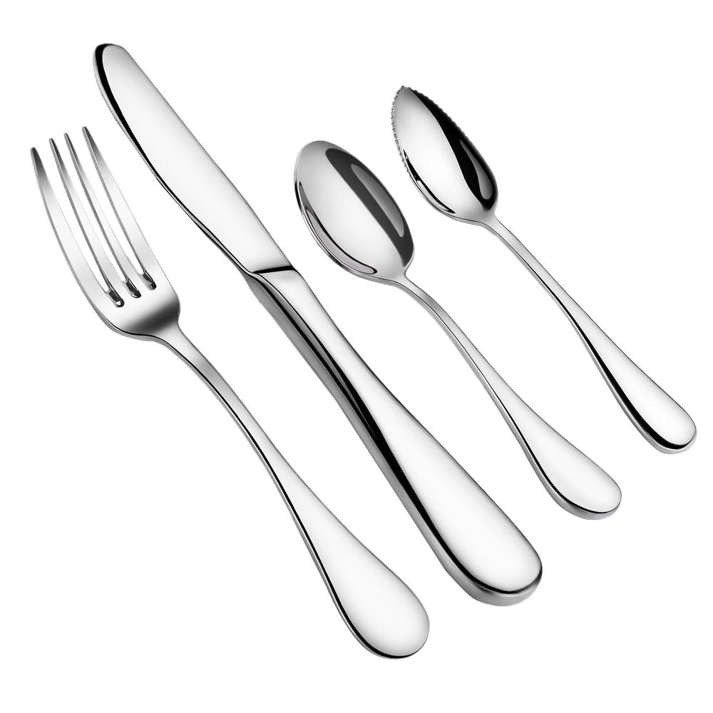 Artaste Rain 20 Piece 1810 Flatware Set Service For 4 56389 The