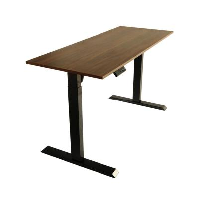 60 in. Black/Walnut Electric Standing Desk with Adjustable Height and Memory Settings - Motorized Workstation