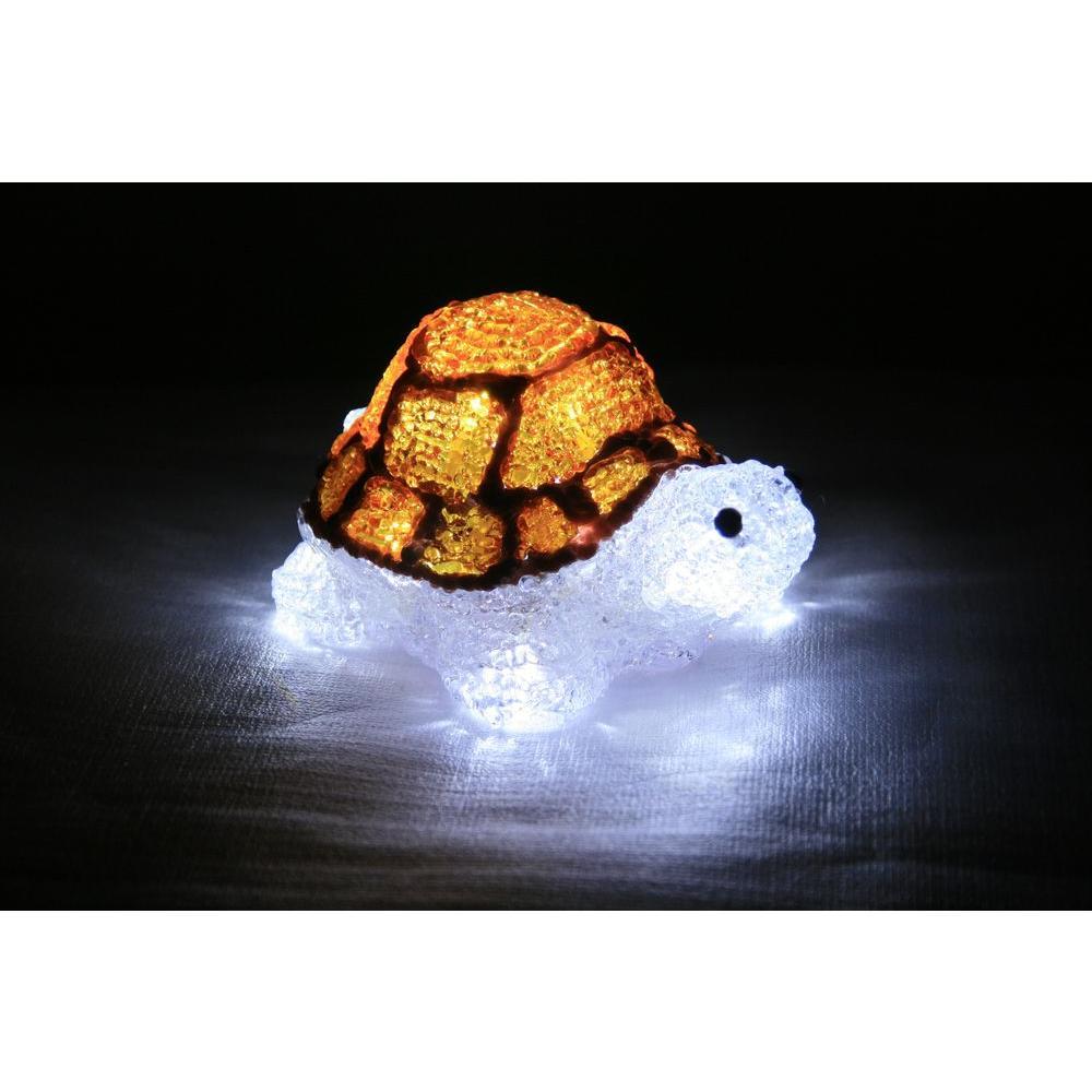 7 in. Decorative Orange LED Turtle Light