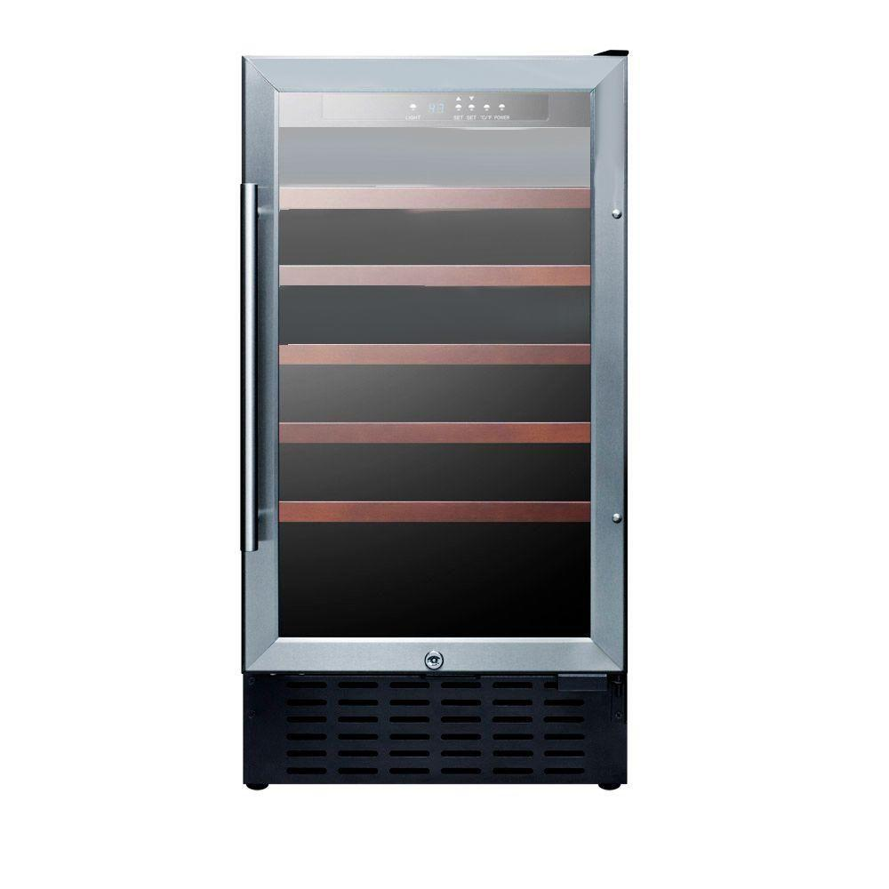 18 in. 34-Bottle Built-In Wine Cooler-SWC1840 - The Home Depot