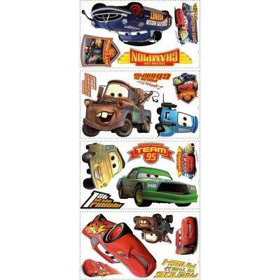5 in. x 11.5 in. Cars Piston Cup Champs 19-Piece Peel and Stick Wall Decals