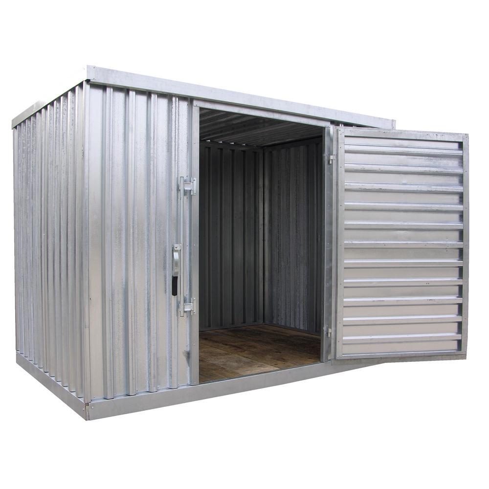 Single Galvanized Storage Building