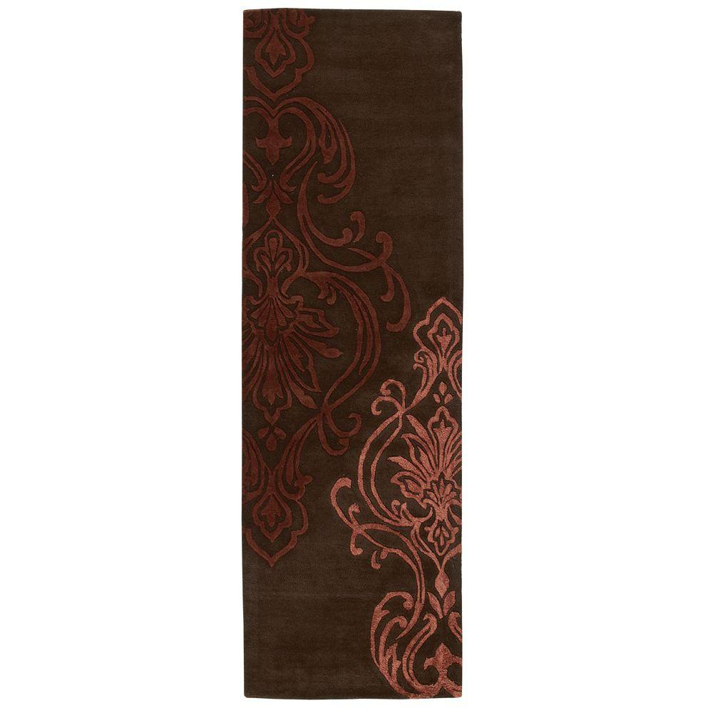 Home Decorators Collection Romantica Chocolate 2 ft. 6 in. x 10 ft. Rug Runner