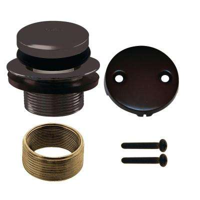 Universal Twist and Close Tub Waste Trim Kit in Oil Rubbed Bronze