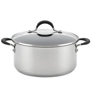 Momentum Stainless Steel Nonstick 5-Quart Covered Dutch Oven