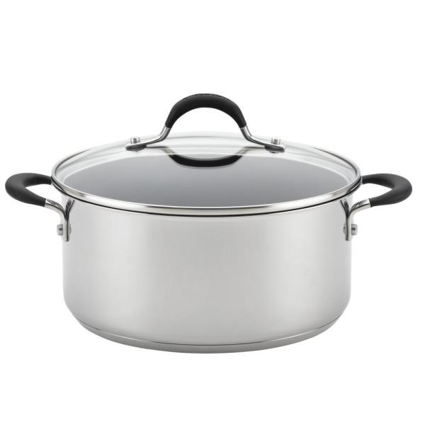 Circulon Momentum Stainless Steel Nonstick 5-Quart Covered Dutch Oven 78005