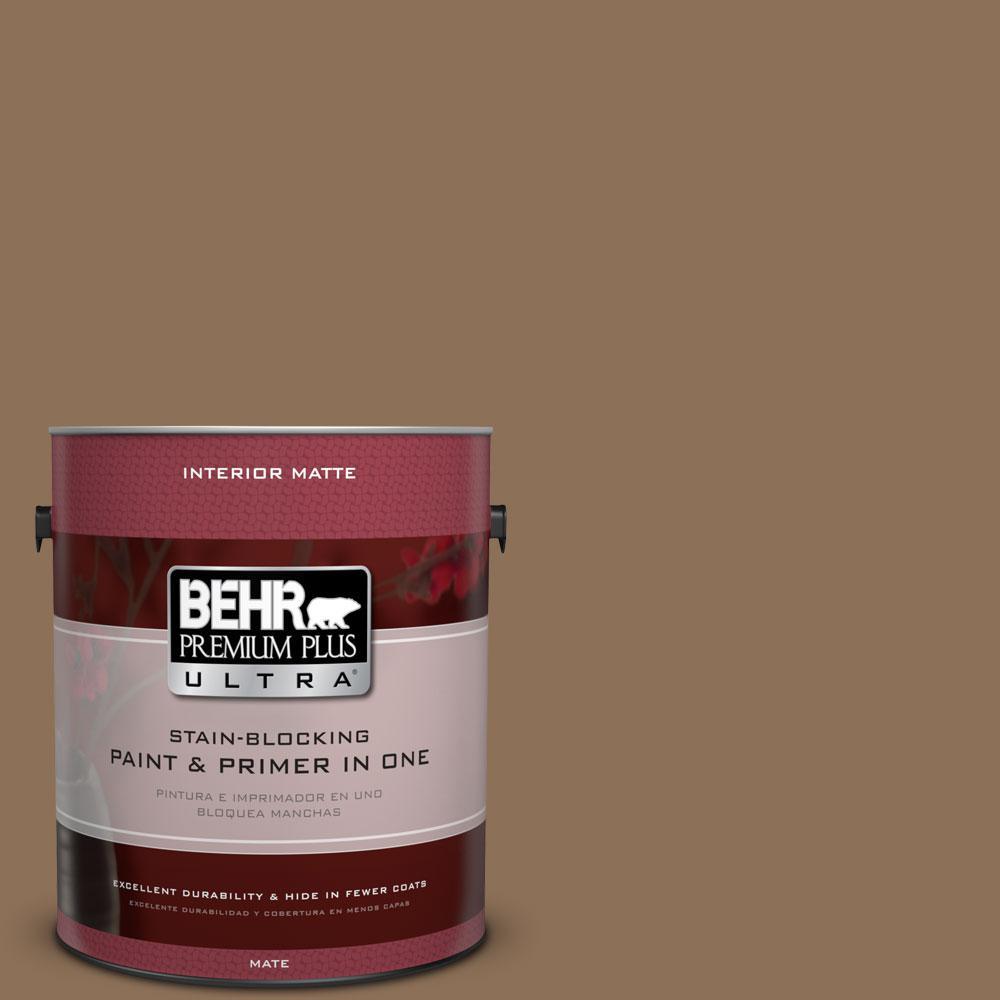 1 gal. #280F-6 Sweet Georgia Brown Flat/Matte Interior Paint