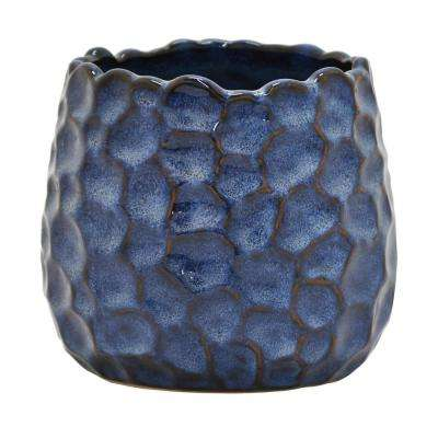 5 in. Ceramic Flower Pot in Blue
