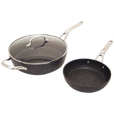 The Rock 3-Piece Cookware Set with Riveted Cast Stainless Steel Handles