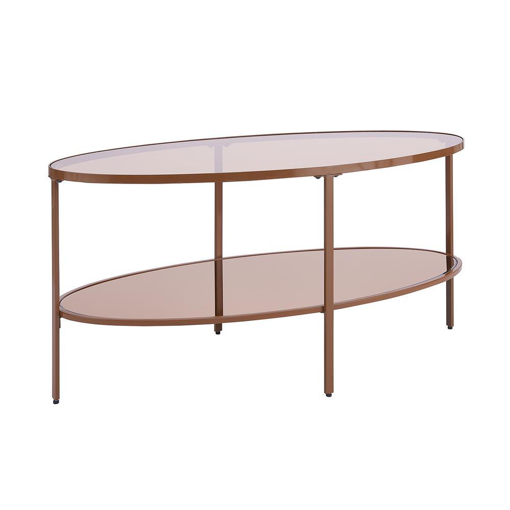 Brealyn Bronze Glass Coffee Table