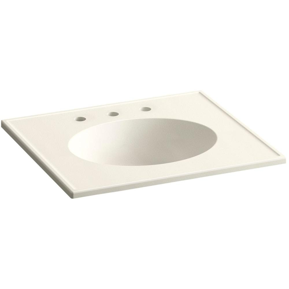 Ceramic/Impressions 25 in. Vitreous China Vanity Top with Basin in Biscuit