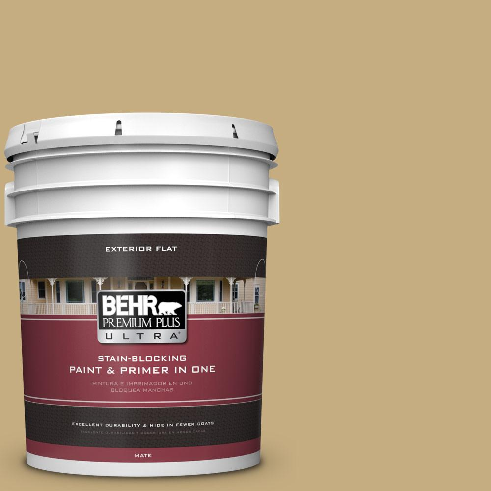 5 gal. #MQ2-29 Cliff Ridge Flat Exterior Paint and Primer in