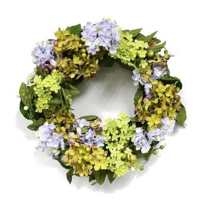 22 in. Wreath with Hydrangea's