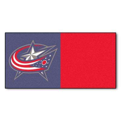 NHL - Columbus Blue Jackets Gray and Red Pattern 18 in. x 18 in. Carpet Tile (20 Tiles/Case)