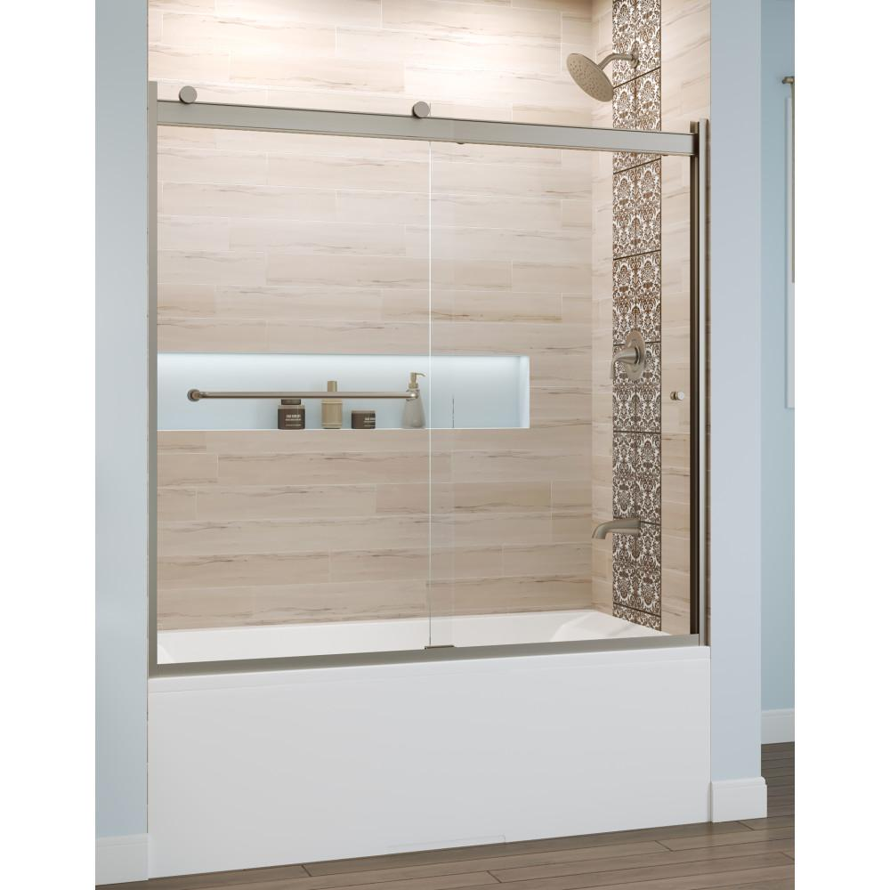 Rotolo 60 in. x 57 in. Semi-Frameless Sliding Tub Door in
