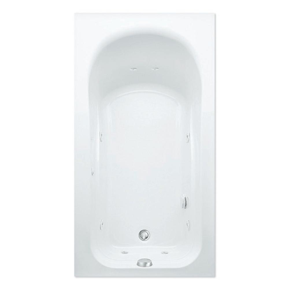 Aquatic Dossi 32Q 5 ft. Right Hand Drain Acrylic Whirlpool Bath Tub in White
