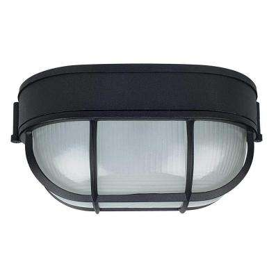 Stapp 1-Light Black Outdoor Flush Mount