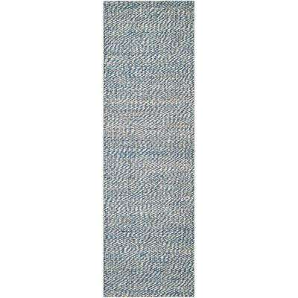 Natural Fiber Blue/Ivory 3 ft. x 8 ft. Runner Rug