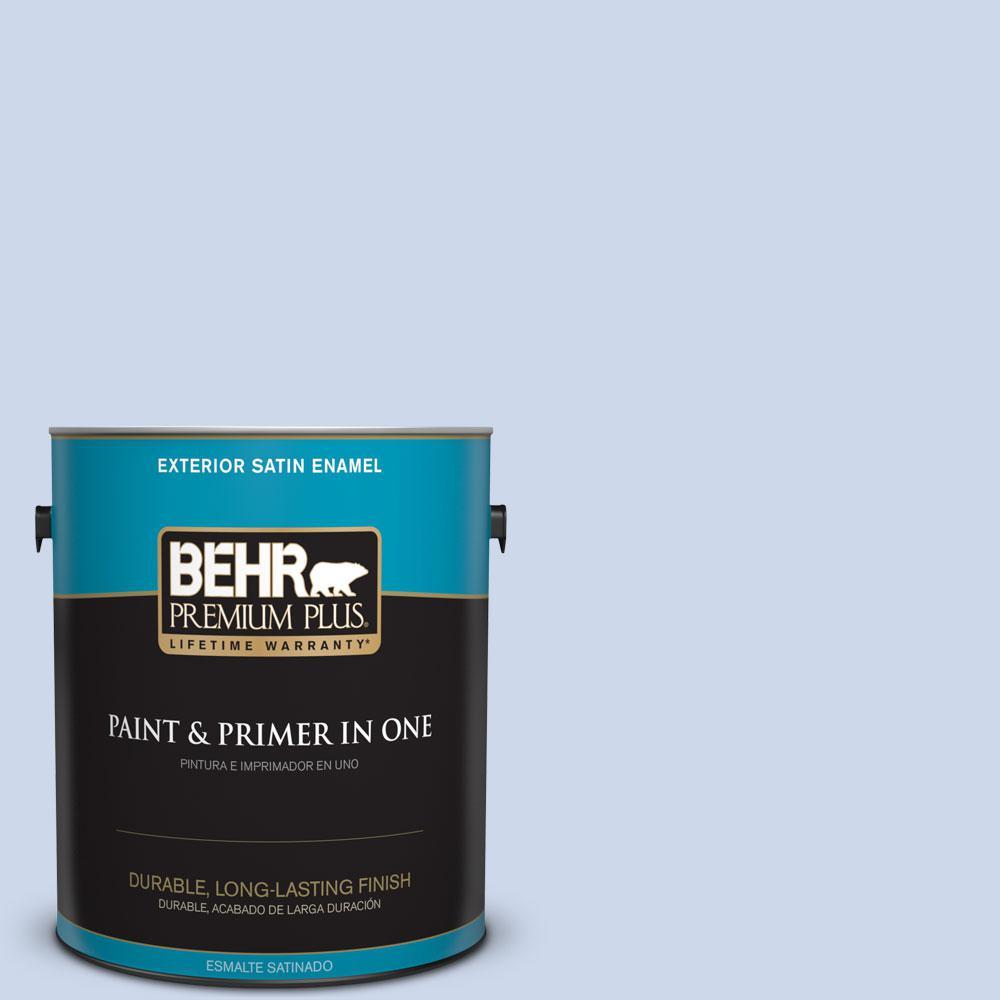 BEHR Premium Plus 1-gal. #M540-2 Angelic Blue Satin Enamel Exterior Paint