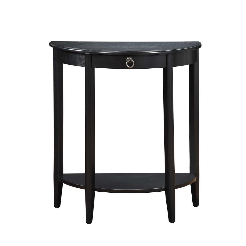 Justino II Black Console Table