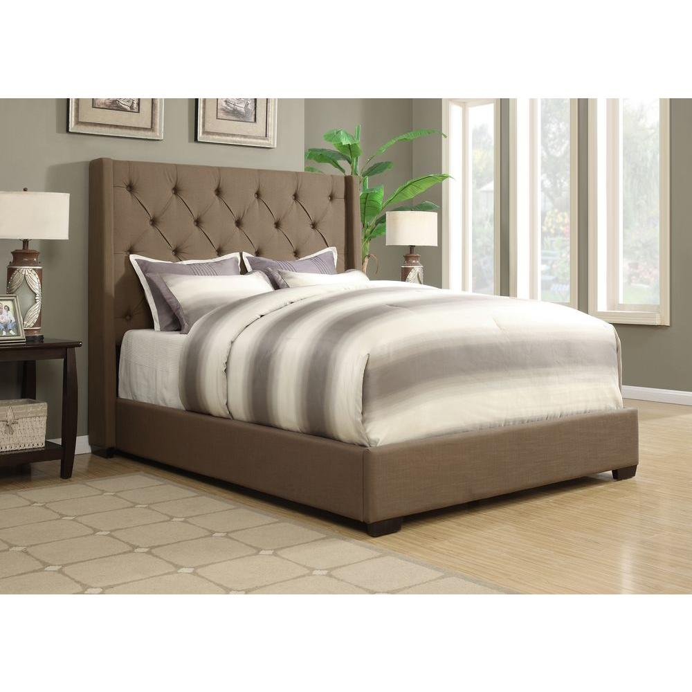 Home Decorators Collection Gordon Natural Queen Sleigh Bed 2309800400 The Home Depot