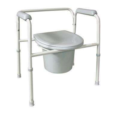 12 Qt. Deluxe Steel Commode in White
