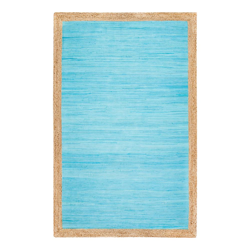 Aganippe Hand-Loomed Blue 5 ft. x 7 ft. Area Rug