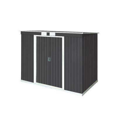 Pent Roof 8 ft. x 4 ft. Dark Gray metal shed