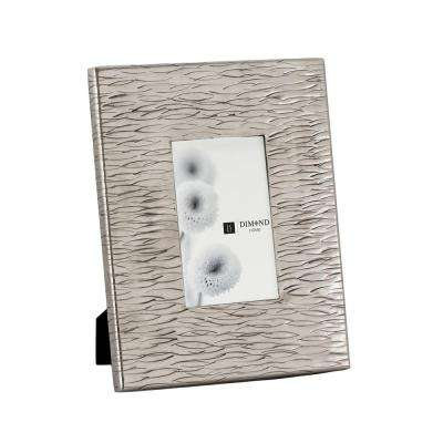 1-Opening 4 in. X 6 in. Aluminum Textured Picture Frame