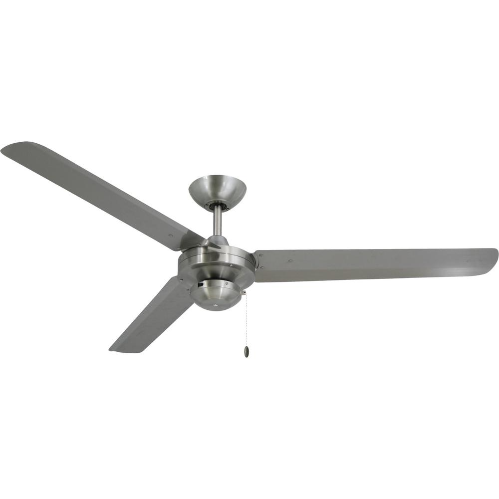 TroposAir Tornado 56 in. Stainless Steel Indoor/Outdoor Ceiling Fan