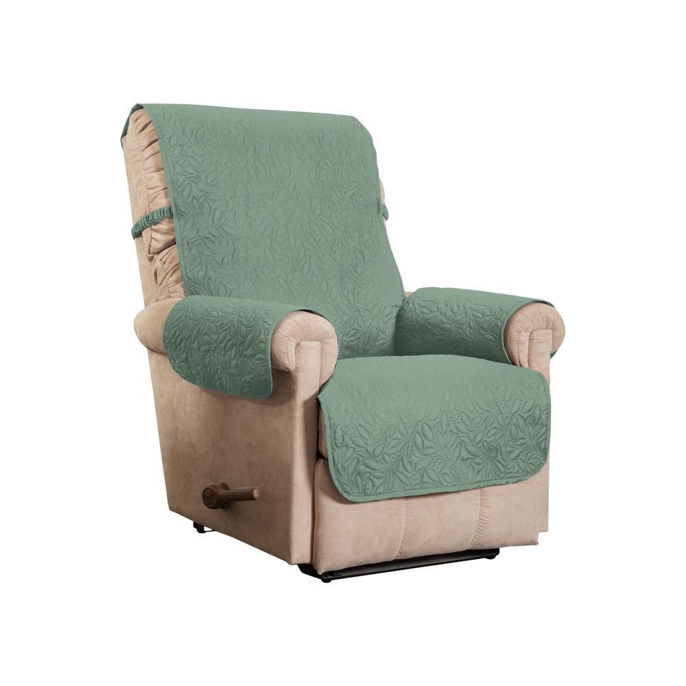 Belmont Leaf Secure Fit Recliner Moss Furniture Cover Slipcover