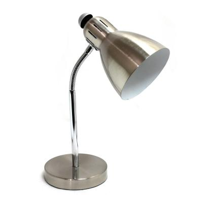 15.75 in. Semi-Flexible Brushed Nickel Desk Lamp