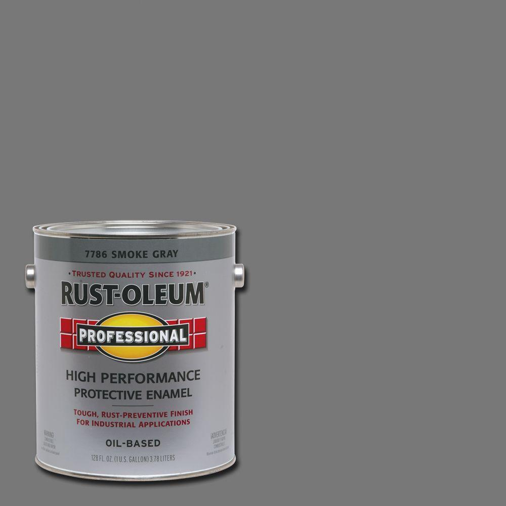Rust-Oleum Professional 1 gal. High Performance Protective Enamel Gloss Smoke Gray Oil-Based Interior/Exterior Industrial Paint (2-Pack)