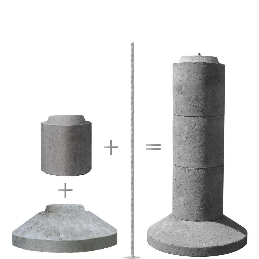 Ez Tube 4 Section 40 In Stackable Precast Concrete Pier