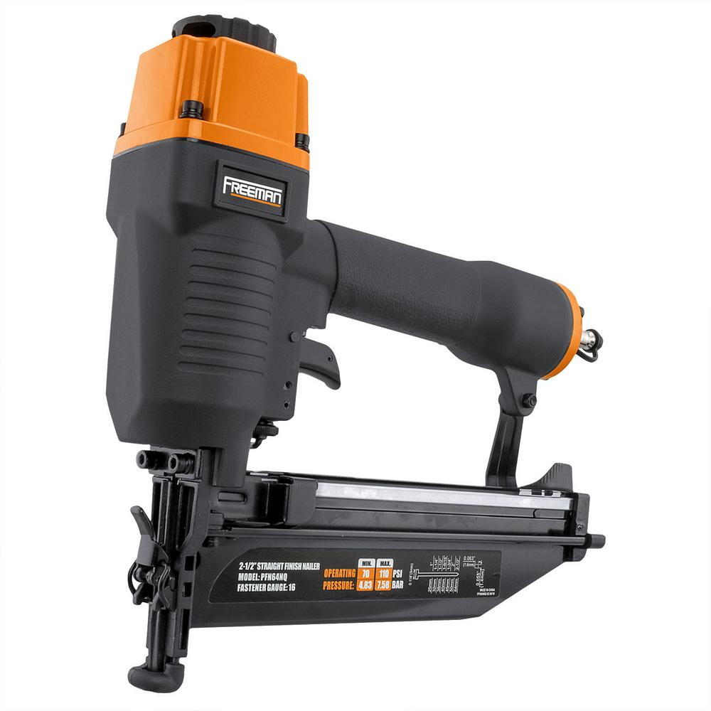 Freeman Pneumatic 16-Gauge 2-1/2 in. Straight Finish Nailer with Nails (500-Count) was $79.0 now $54.88 (31.0% off)