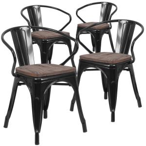 Antiques Antique Furniture GOLD STACKING CHAIR VINTAGE RETRO STACKABLE DINING CHAIRS RESTAURANT CHAIR