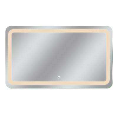Egret 60 in. x 35 in. Tri-Color Wall Backlit LED Mirror with Touch On/Off Dimmer and Anti-Fog Function