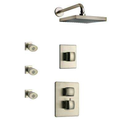 Lady Brushed Nickel Shower Combo 4