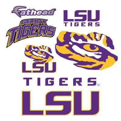 39 in. H x 24 in. W LSU Tigers Team Logo Assortment Wall Mural