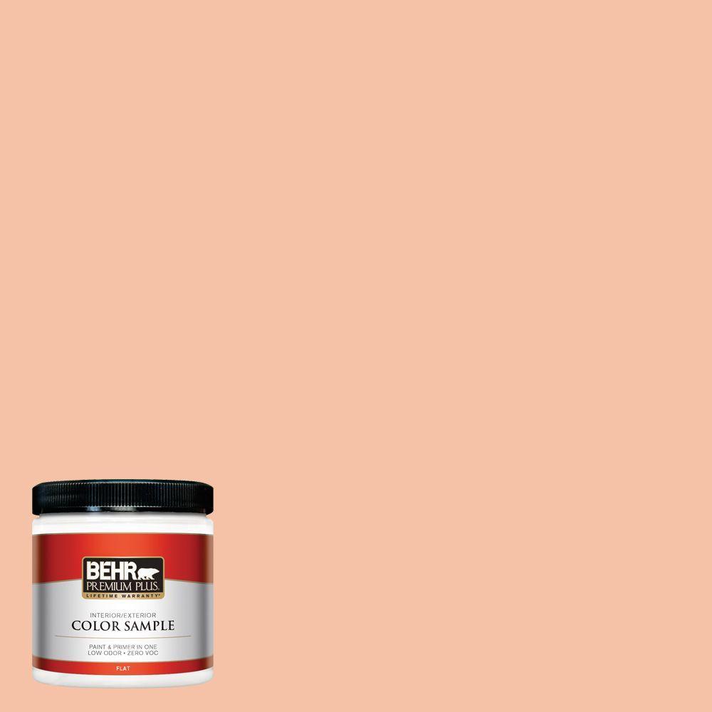 BEHR Premium Plus 8 oz. #240C-3 Peach Damask Interior/Exterior Paint Sample