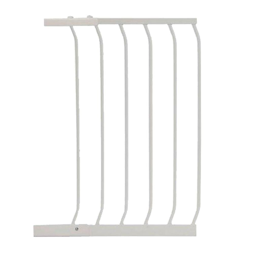 17.5 in. Gate Extension for White Chelsea Standard Height Child Safety