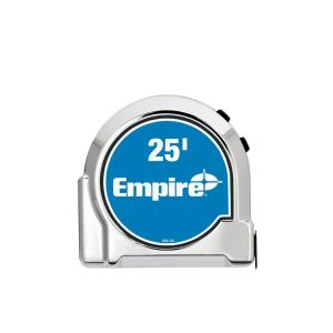 Click here to buy Empire 25 ft. Chrome Tape Measure by Empire.