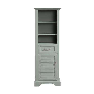 Colton 22 in. W x 16 in. D x 65 in. H Floor Cabinet in. Basil Green Finish